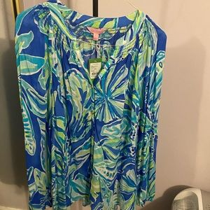 Lily Pulitzer button front Elsa in beckon blue
